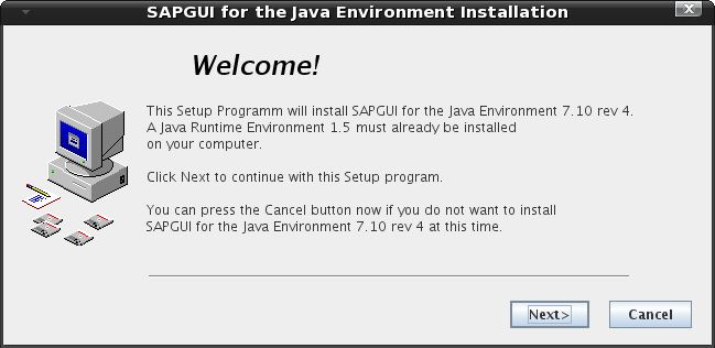 1-SAPGUI for the Java Environment Installation